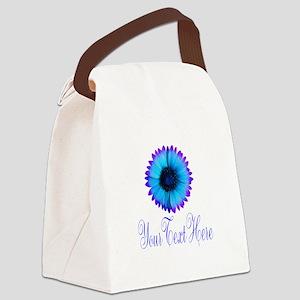 Fantasy Flower Blue Purple Canvas Lunch Bag