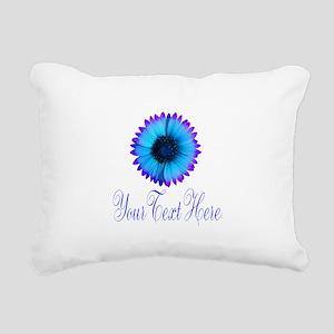 Fantasy Flower Blue Purple Rectangular Canvas Pill