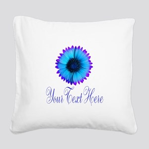 Fantasy Flower Blue Purple Square Canvas Pillow