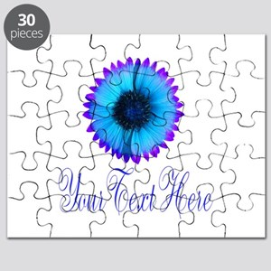 Fantasy Flower Blue Purple Puzzle