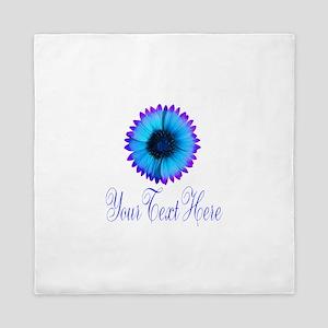 Fantasy Flower Blue Purple Queen Duvet