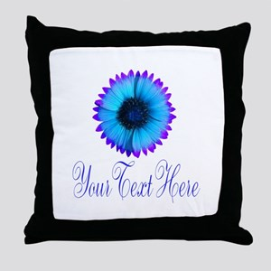 Fantasy Flower Blue Purple Throw Pillow