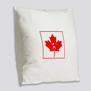 Team Golf Canada Burlap Throw Pillow