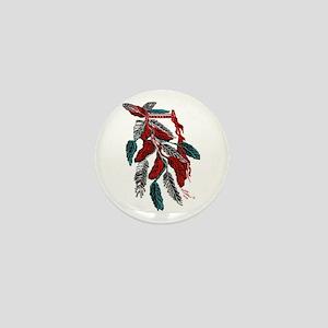 Headdress American Indian/tatoo art Mini Button