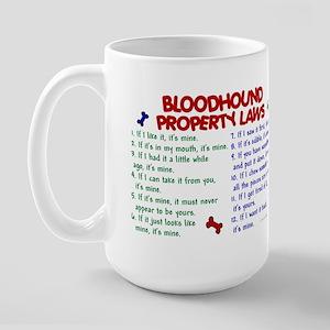 Bloodhound Property Laws 2 Large Mug