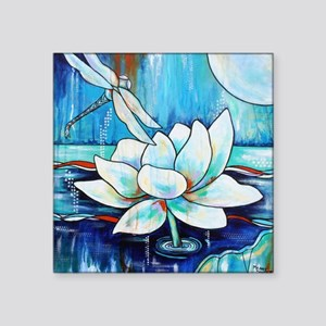 Lotus Dragonfly in Blue Sticker