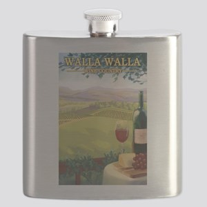 Walla Walla Wine Country Flask