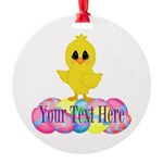 Easter Chick Custom Ornament