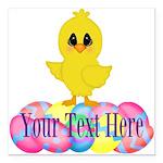 Easter Chick Custom Square Car Magnet 3