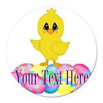 Easter Chick Custom Round Car Magnet