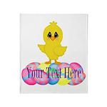 Easter Chick Custom Throw Blanket