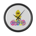 Easter Chick Custom Large Wall Clock