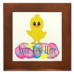 Easter Chick Custom Framed Tile
