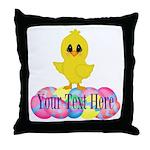 Easter Chick Custom Throw Pillow