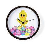 Easter Chick Custom Wall Clock