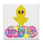 Easter Chick Custom Tile Coaster
