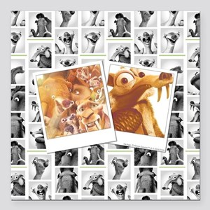 """Ice Age Photographs Full Square Car Magnet 3"""" x 3"""""""