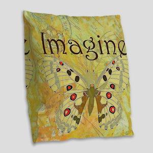 Imagine Burlap Throw Pillow
