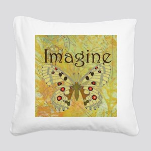 Imagine Square Canvas Pillow