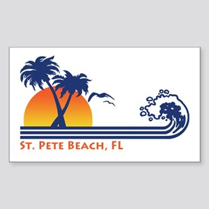 St. Pete Beach FL Sticker (Rectangle)