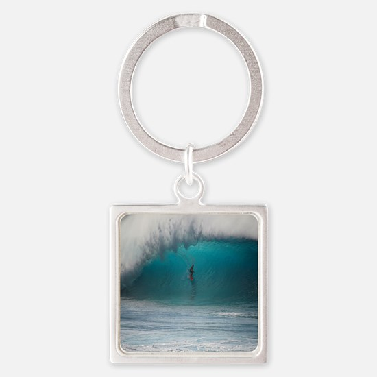 Funny Shower Square Keychain