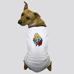 SAILOR GIRL TATTOO Dog T-Shirt