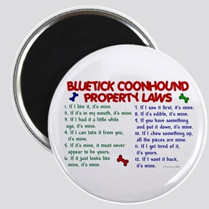 Bluetick Coonhound Property Laws 2 Magnet