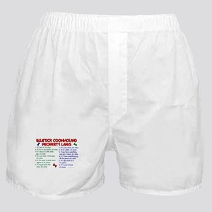 Bluetick Coonhound Property Laws 2 Boxer Shorts