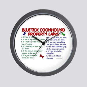 Bluetick Coonhound Property Laws 2 Wall Clock