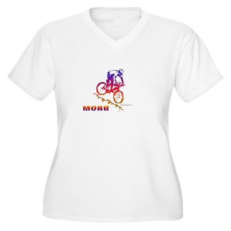 MOAB Women's Plus Size V-Neck T-Shirt