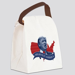 Believe in America - Donald Trump Canvas Lunch Bag