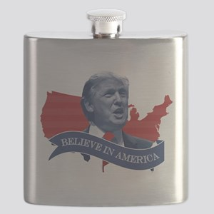 Believe in America - Donald Trump Flask