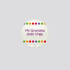 My Grandma does Yoga Mini Button