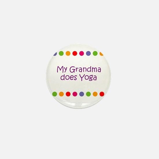 My Grandma does Yoga Mini Button