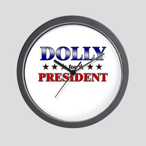 DOLLY for president Wall Clock