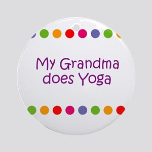 My Grandma does Yoga Ornament (Round)