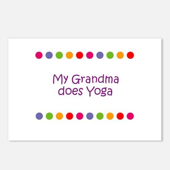 My Grandma does Yoga Postcards (Package of 8)