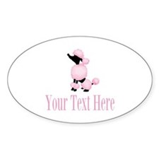 French Poodle Pink Sticker