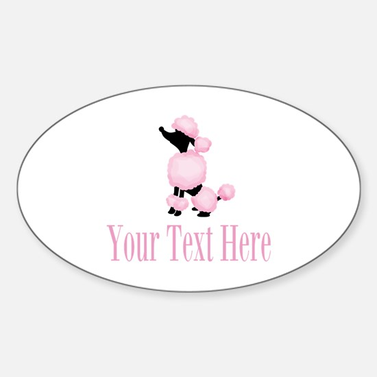 French Poodle Pink Decal
