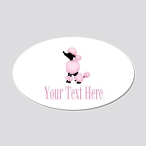 French Poodle Pink Wall Decal