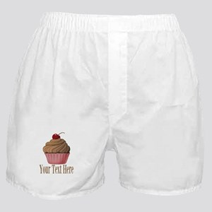 Pink Brown Cupcake Boxer Shorts