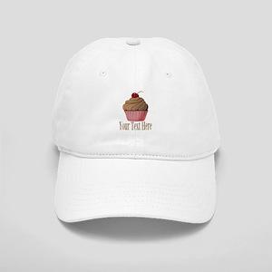 Pink Brown Cupcake Baseball Cap