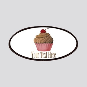 Pink Brown Cupcake Patch