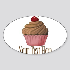 Pink Brown Cupcake Sticker