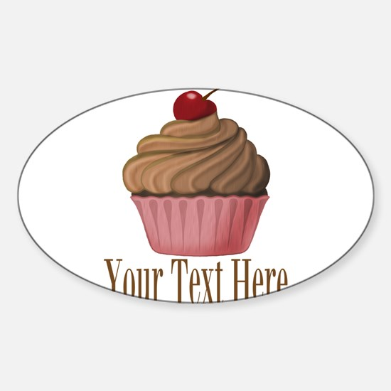 Pink Brown Cupcake Decal