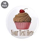 Pink Brown Cupcake 3.5