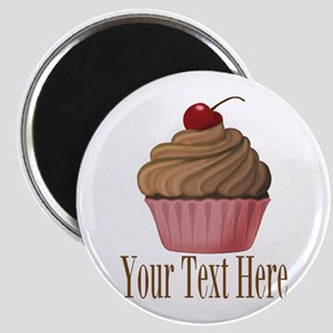 Pink Brown Cupcake Magnets