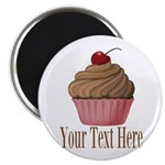 Pink Brown Cupcake Magnets