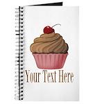 Pink Brown Cupcake Journal