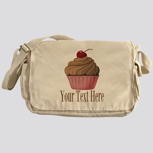 Pink Brown Cupcake Messenger Bag
